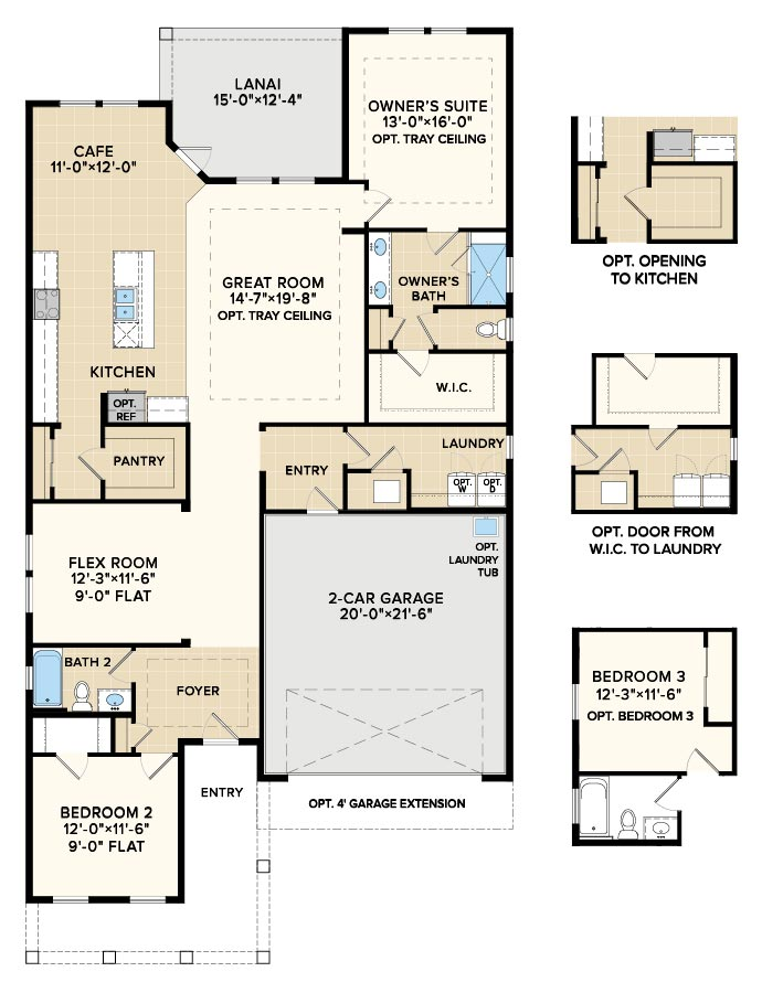 Floorplan Option at Reverie at Trailmark