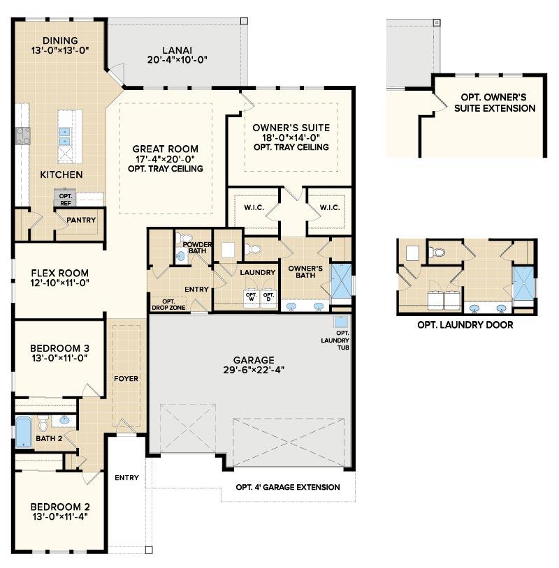 Floorplan Option at Reverie at Trailmark